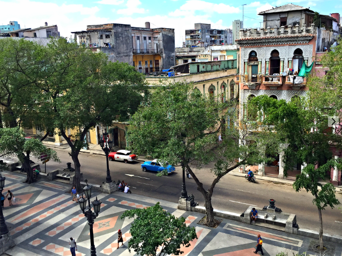 A birds eye view of Old Havana