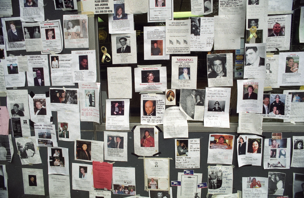 Walls were covered with missing persons flyers, and family members were standing by subways and train stations handing them out to anyone who would take them