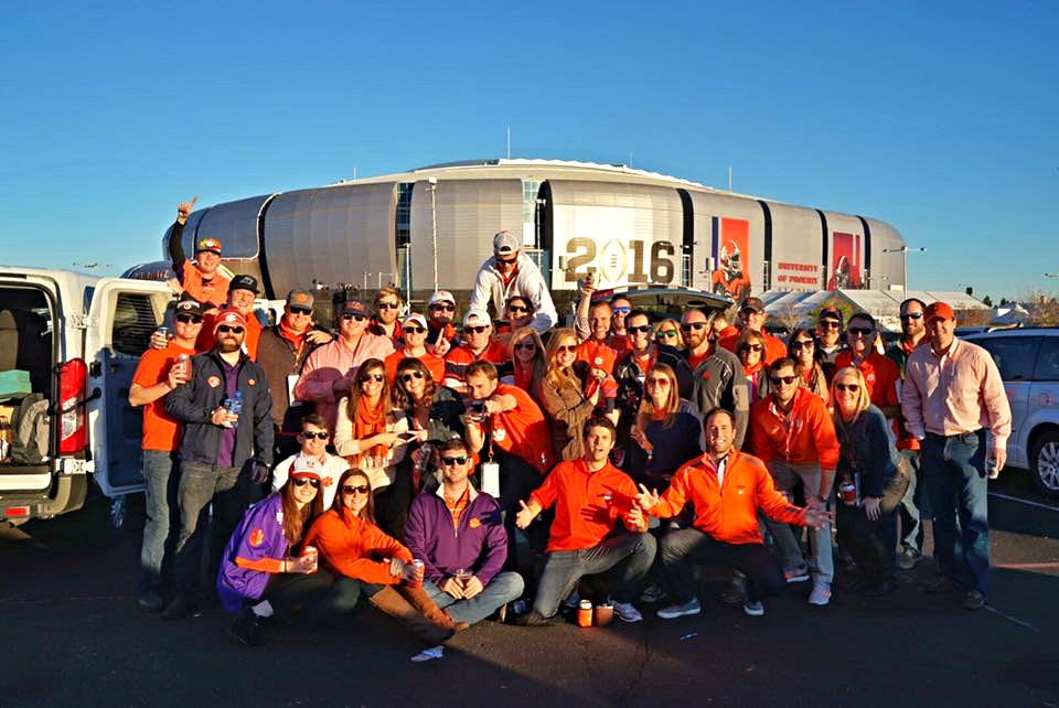 Clemson fans know how to tailgate!