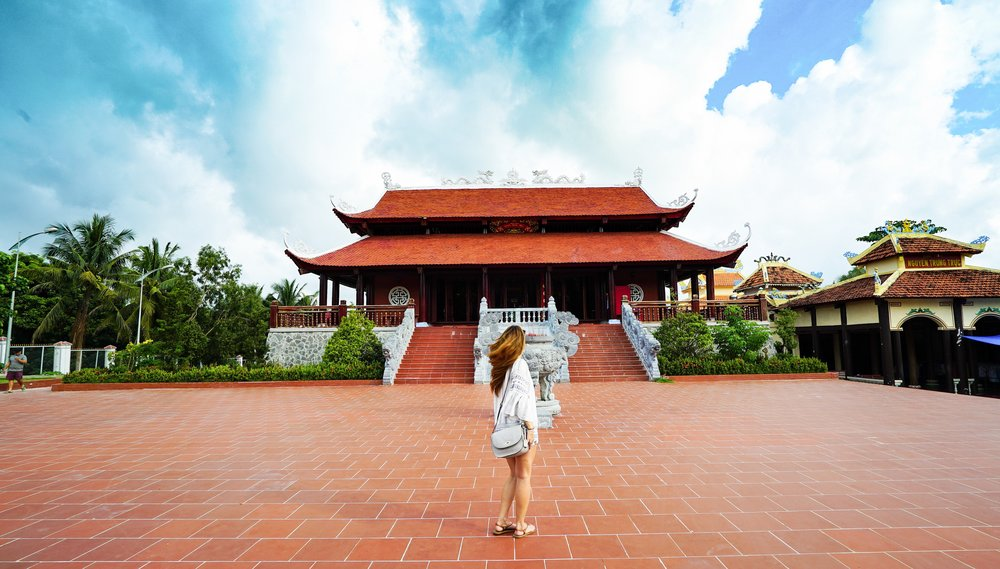 The Trung Truc Temple is one of the best places to see in Phu Quoc, Vietnam