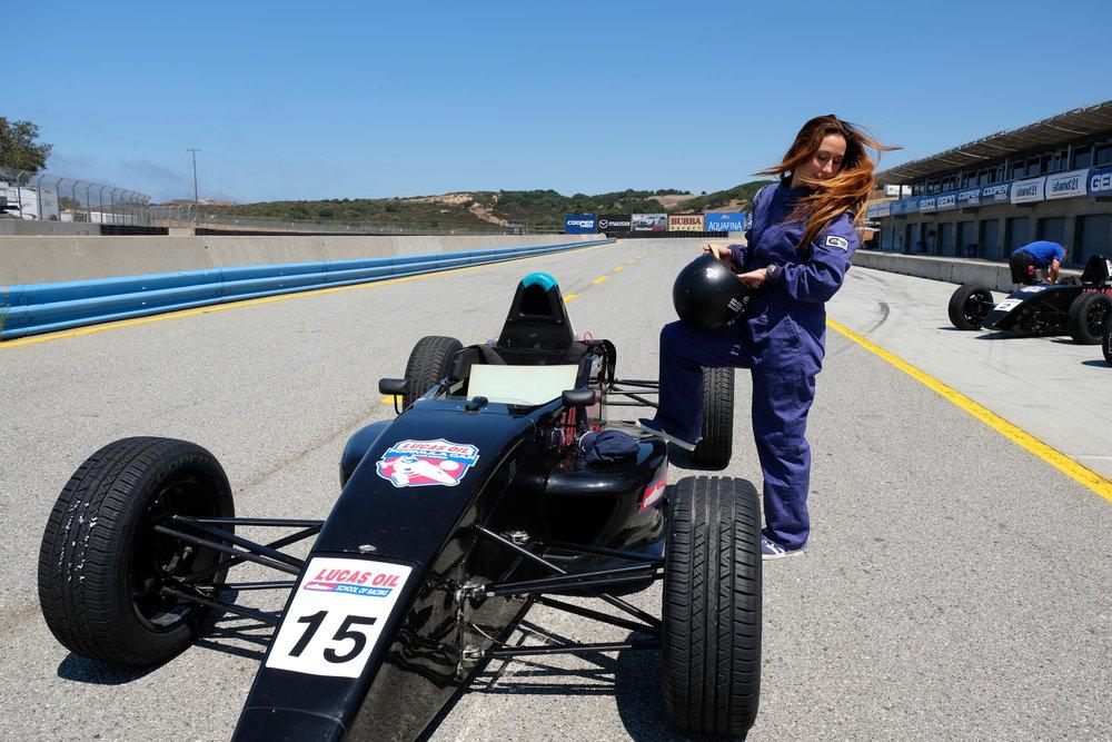 hair whip lucas oil race school
