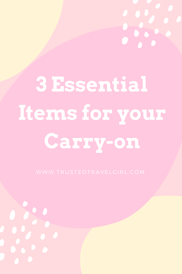 Most people like to tell you 20 things you need to go on a trip, but we only need these 3 travel essentials! Come see if you have these 3 items in your carry-on and why you should add them to your carry on packing list for your next trip. You'll want to save this to your travel board so you can find it later! #packing #carryon #packinglist