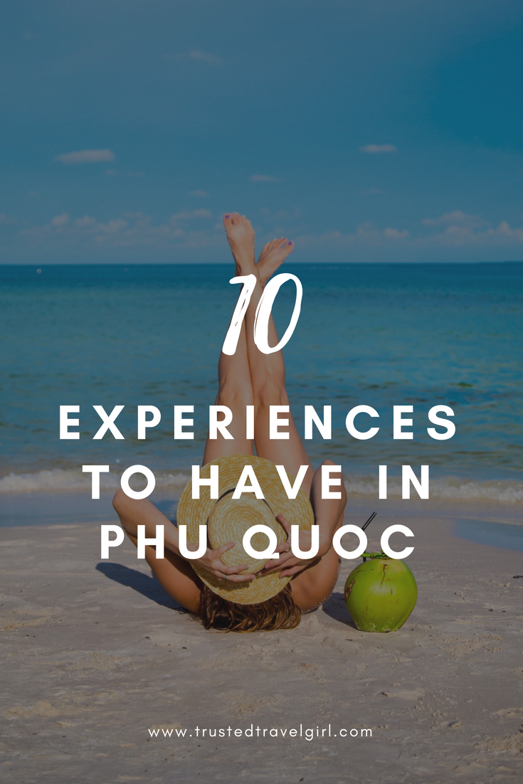 Are you planning a trip to Vietnam? If so, you have to check out these 10 things to do in Phu Quoc, Vietnam. We will tell you what our 10 favorite experiences in Phu Quoc are including island hopping in Phu Quoc, temples in Phu Quoc, places to eat in Phu Quoc, and more. Go check it out and save it to your travel board so you can find it later. #phuquoc #vietnam