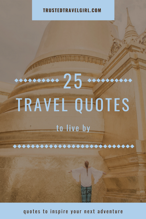 There is nothing better than reading some travel quotes to inspire wanderlust. We put together our favorite 25 travel and adventure quotes to get you itching to travel again. Click on the pin to check out these inspiring travel quotes and save it to your board so you can find it later. #travelquote #inspirationalquote #adventurequote