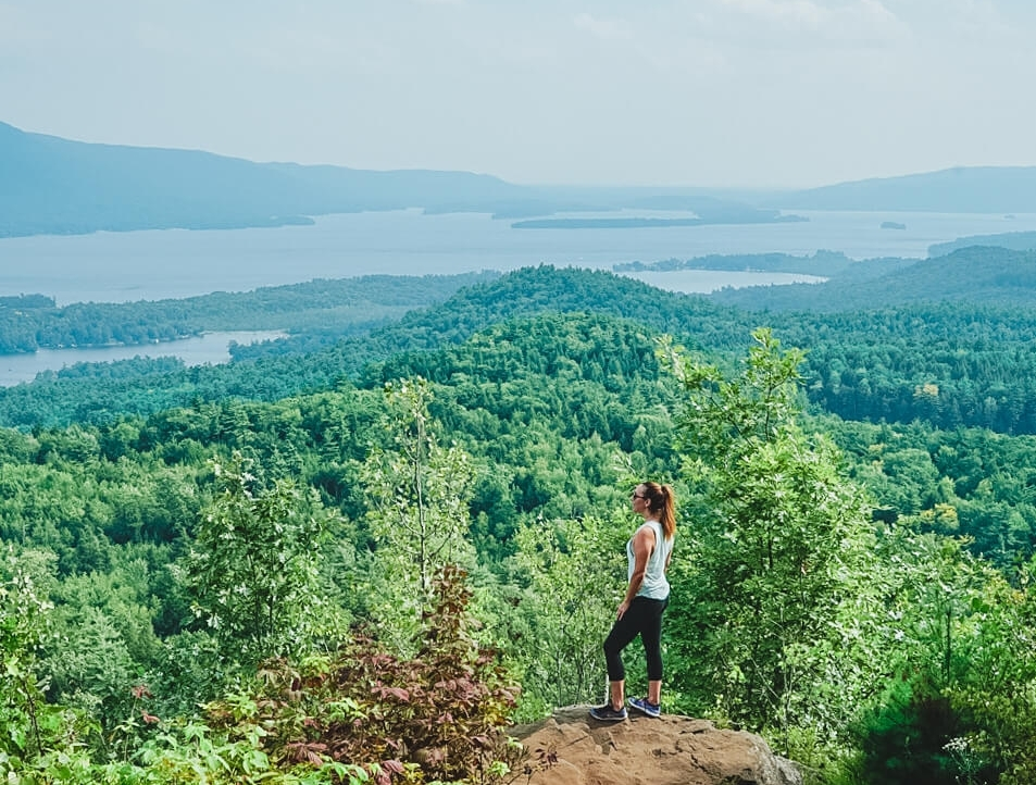 hiking lake george new york, things to do lake george ny, best lake george, activities lake george ny, pinnacle hike lake george new york