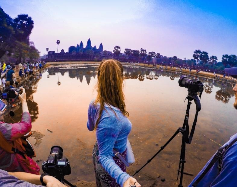Angkor Wat Sunrise Photography Setup
