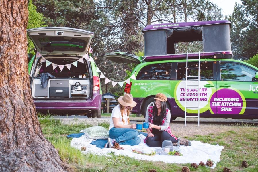 jucy camper van oregon roadtrip