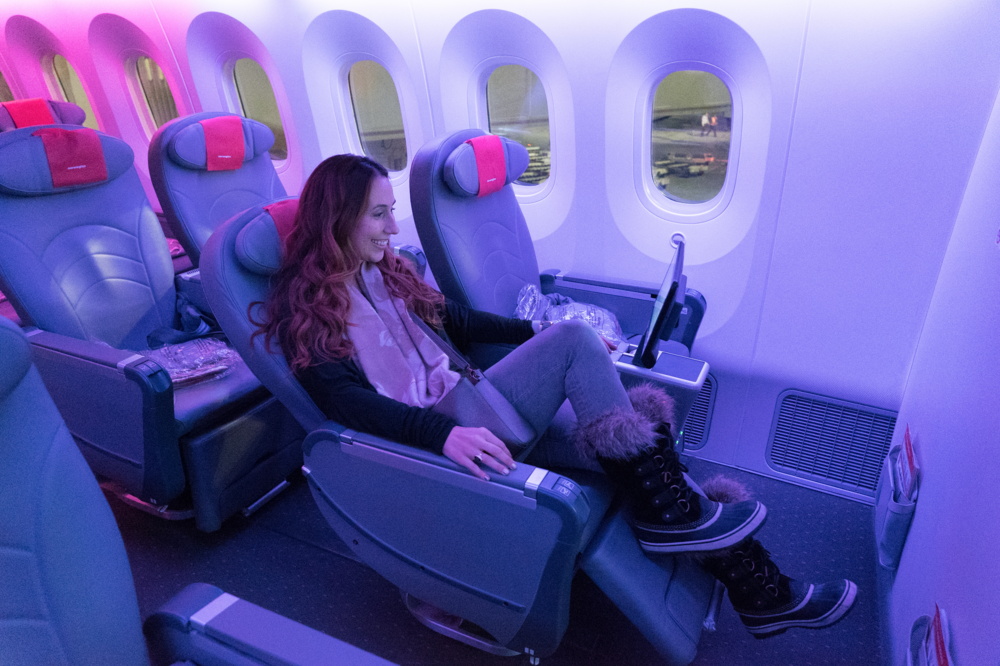 entertainment on board norwegian air premium economy cabin review
