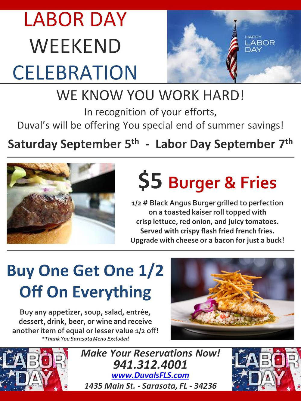 Labor Day Weekend BOGO