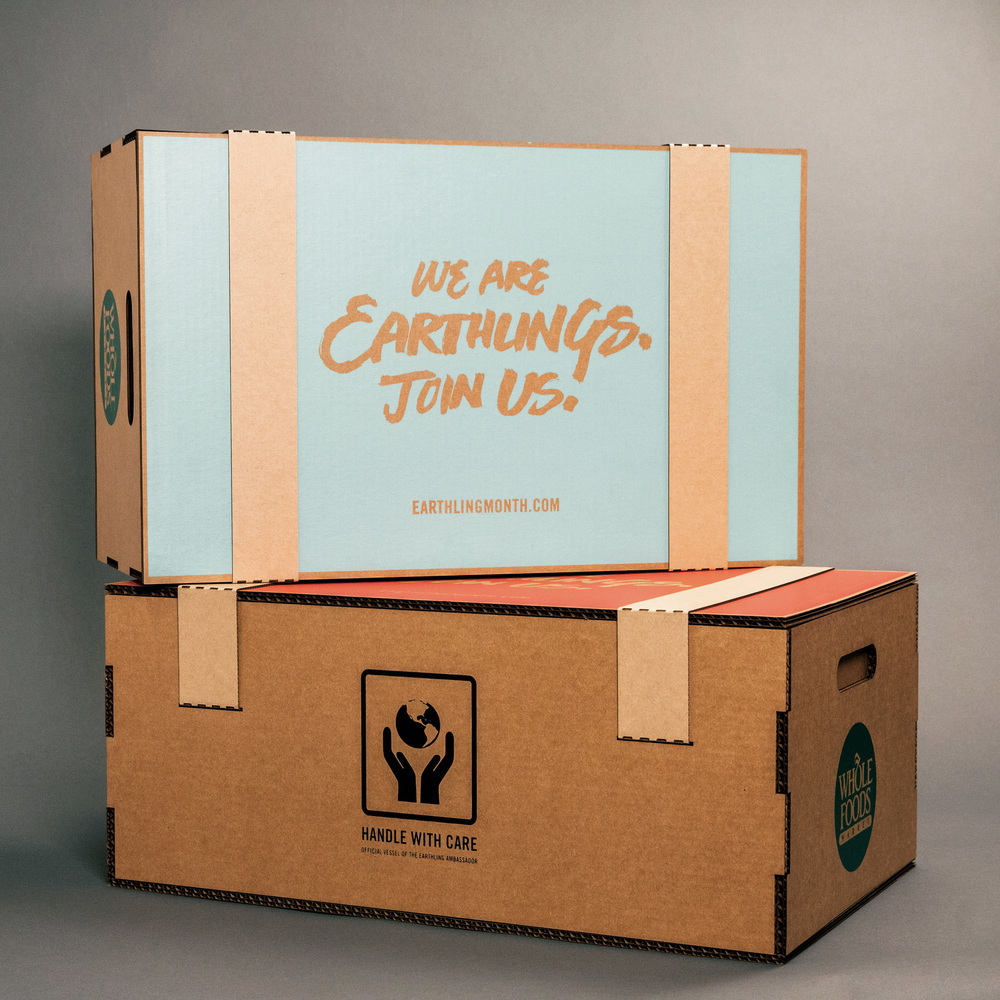 Package design for Whole Foods Earth Day press-kit.