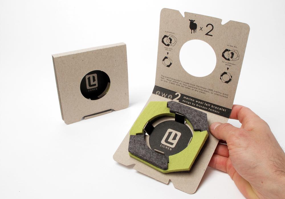 Packaging: Felt Bangle Bracelet — Perhacs Studio