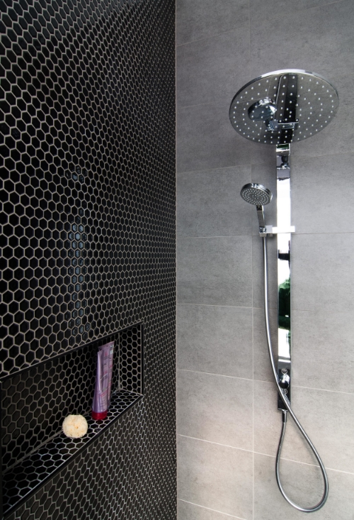 Bathroom makeover featuring black hex tiles | Petrina Turner Design | Interior Design.jpg