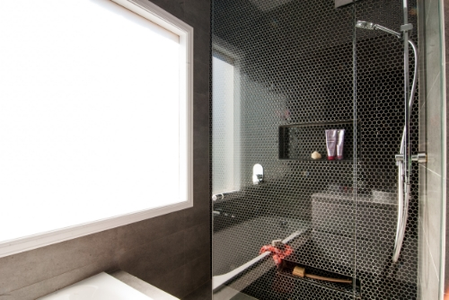 Bathroom makeover, walk in shower with mosaic tiles | Petrina Turner Design | Interior Design.jpg