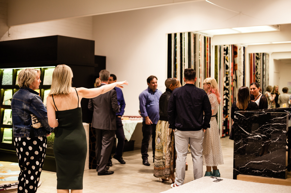 The guests arrive | NEW AGAIN by Petrina Turner Design for Designer Rugs | The launch event
