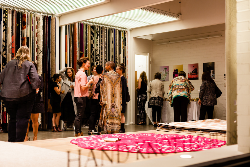 Mingling | NEW AGAIN by Petrina Turner Design for Designer Rugs | The launch event