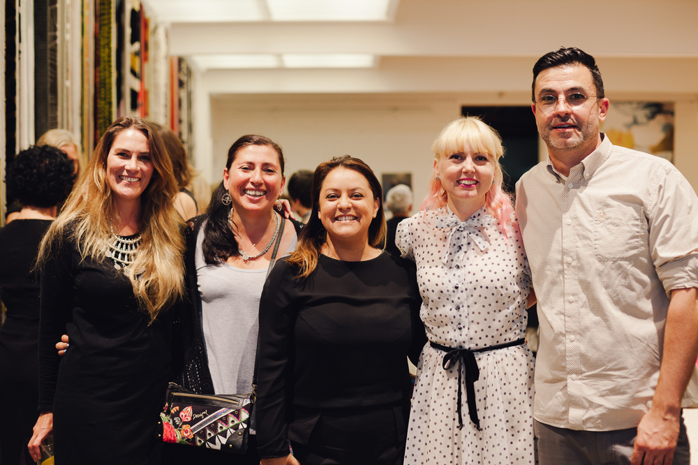 Christine McDonald, Felicia Bonacci, Petrina Turner, Monica Del Rosario, Orlando Mesiti | NEW AGAIN by Petrina Turner Design for Designer Rugs | The launch event