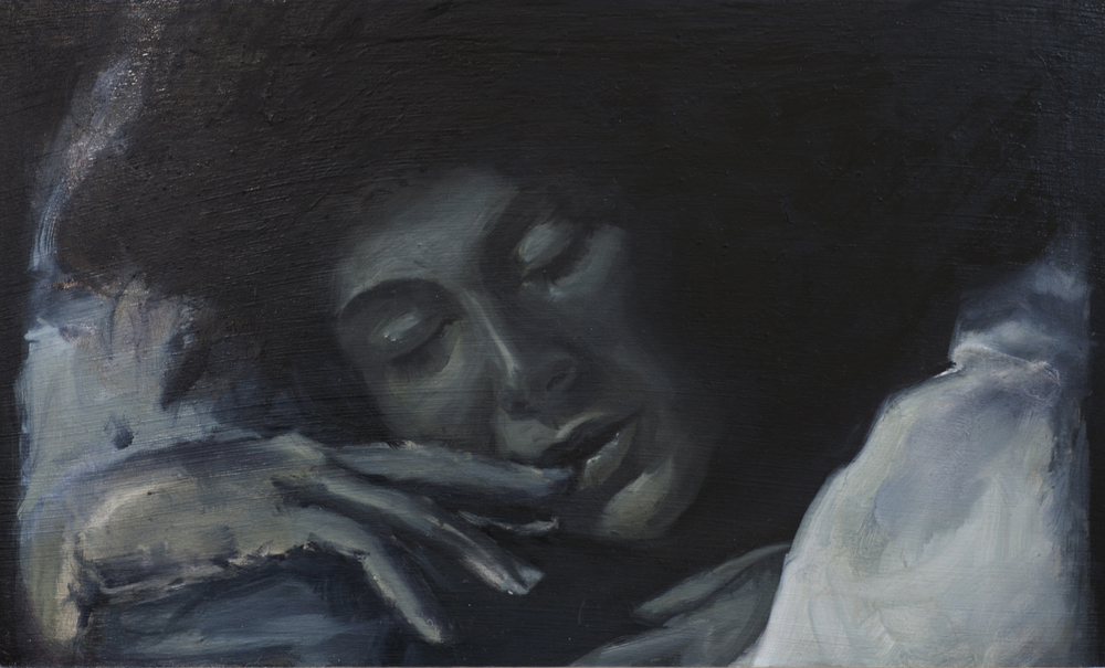 Out of Dreams No. 3, 2012, oil on wood panel, 12 x 21 inches