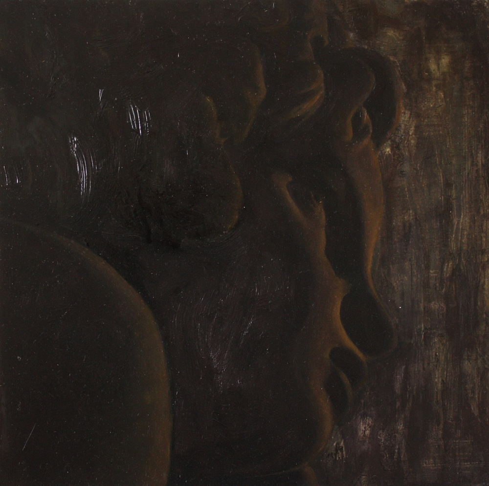 Stones for Eyes,  2011, oil on wood panel, 8 x 8 inches