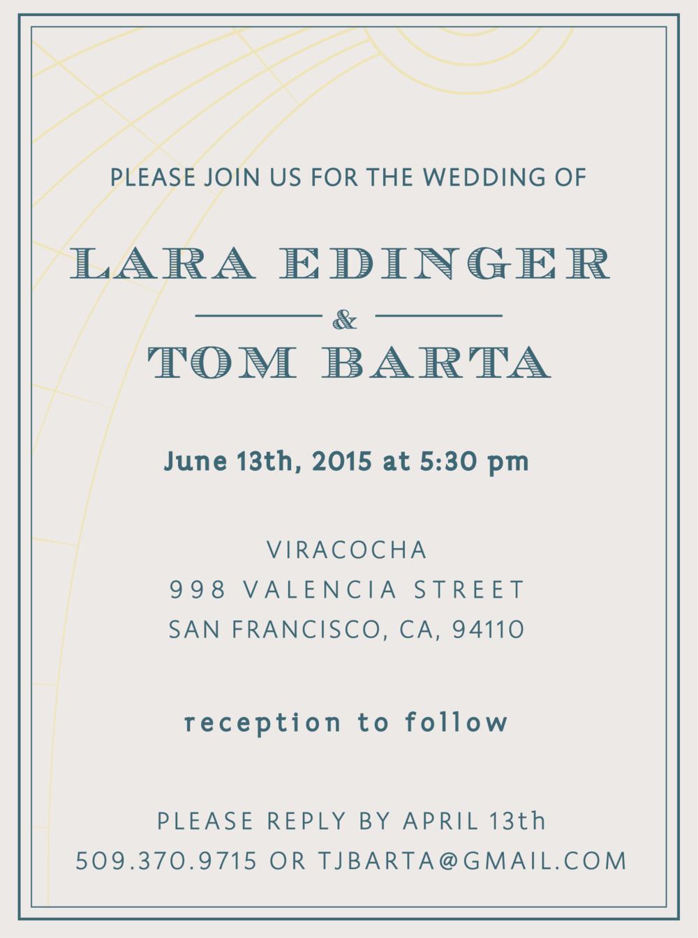 Edinger & Barta Wedding Invitations