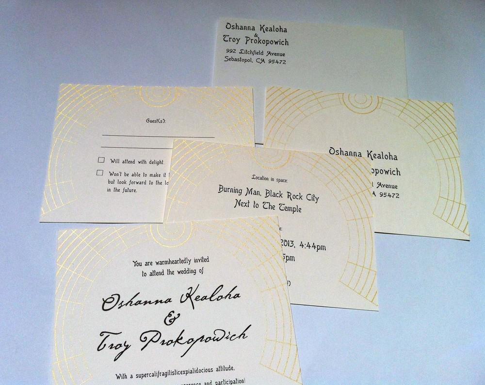 Kealoha & Prokopowich Weding Invites