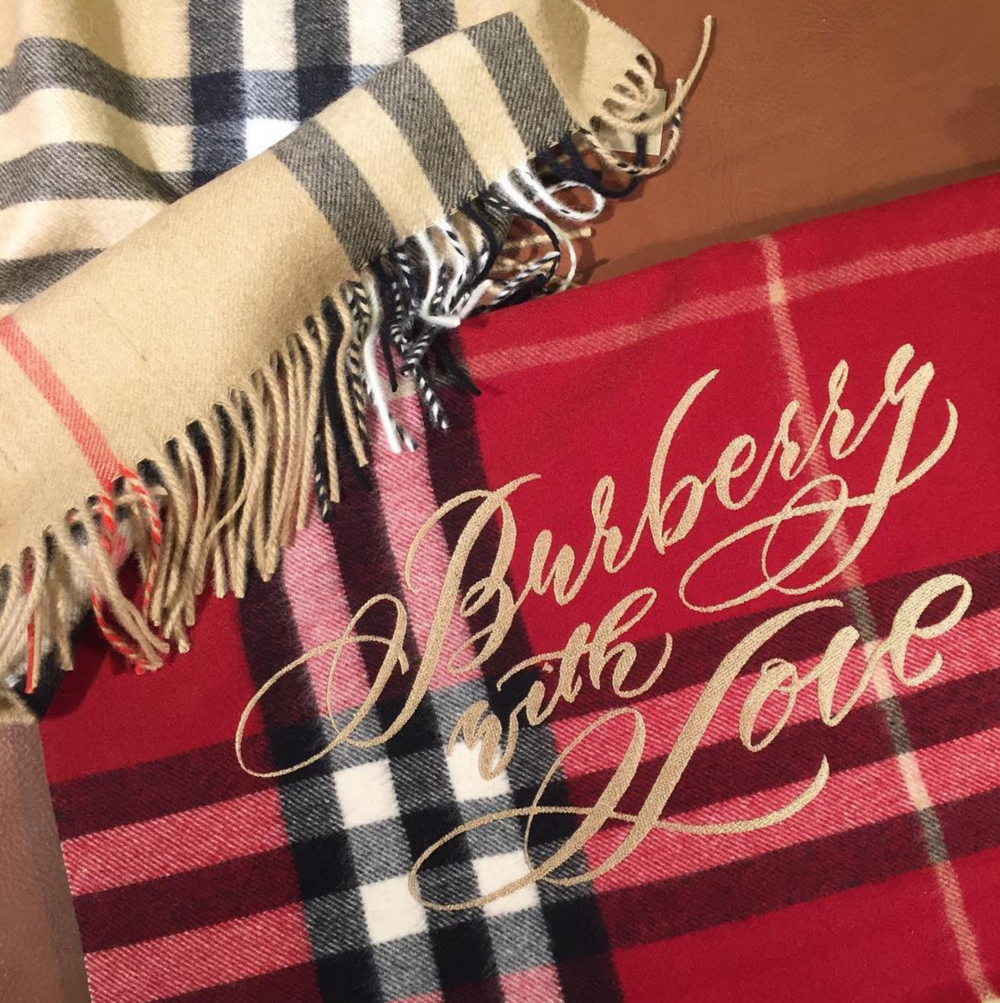 Burberry Scarf Bar Personalized Embroidery Steady Hands Creative
