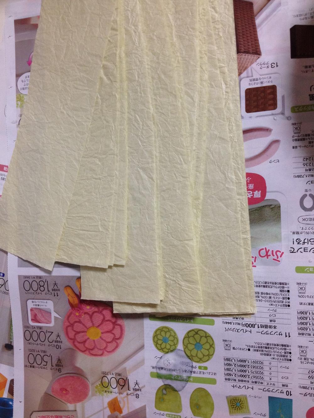 2ème couche de patchs en washi