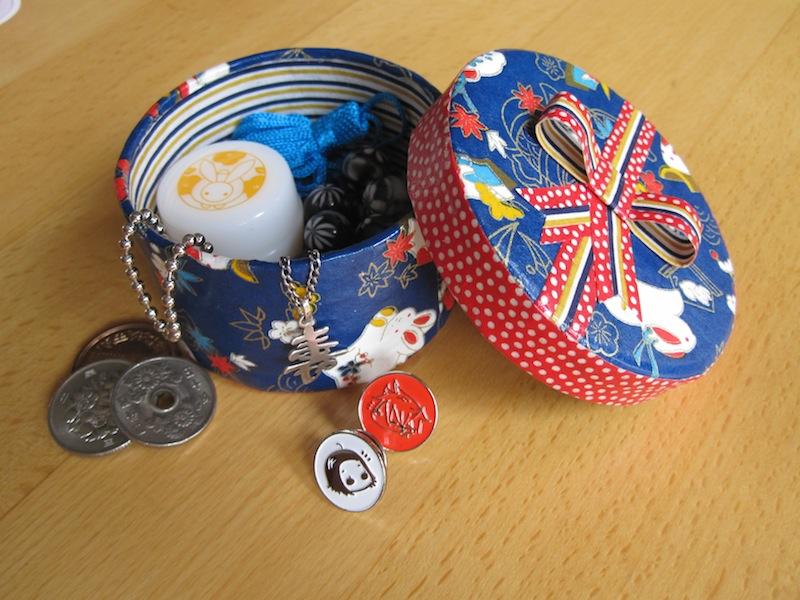 Boîte à trésors en papier japonais