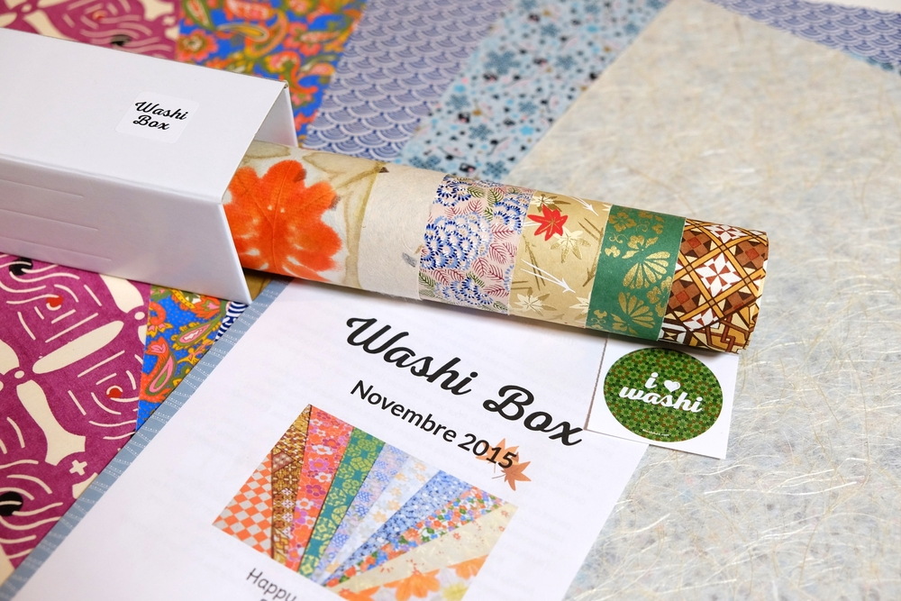 "The Washi Box of November is themed ""Momiji"" (Maple leaves)"