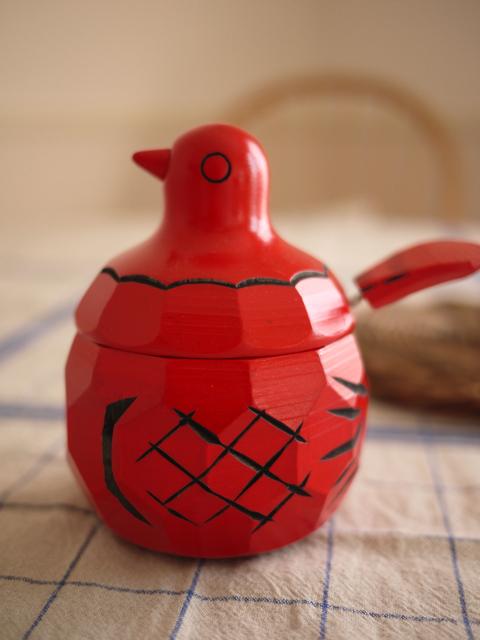 Pot à sucre en bois de l'atelier menuiserie Sakae-ya Kôgeiten 栄屋工芸店(  blog Love Copain  )