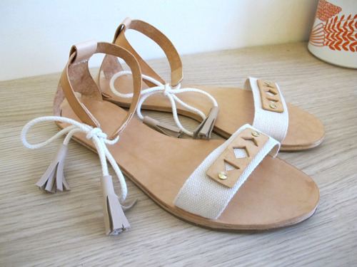 DIY de sandales par Lucille dessine