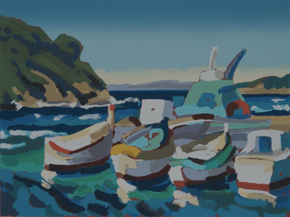 Barche all'isola di Port Cros