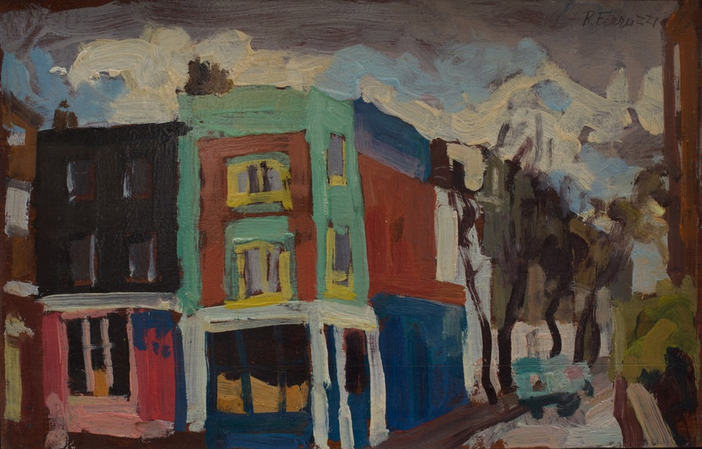 Portobello Road,  oil on wood, 41x26.5 cm, from the '80s. Write to   info@robertoferruzzi.com   for a quotation.