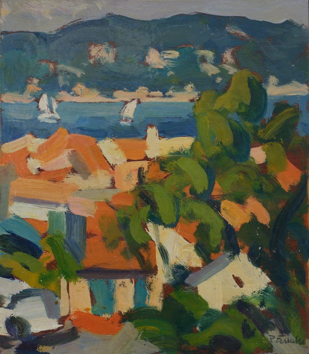 Saint Tropez,oil on wood, 27x30 cm, 1992. Write to info@robertoferruzzi.comfor a quotation.