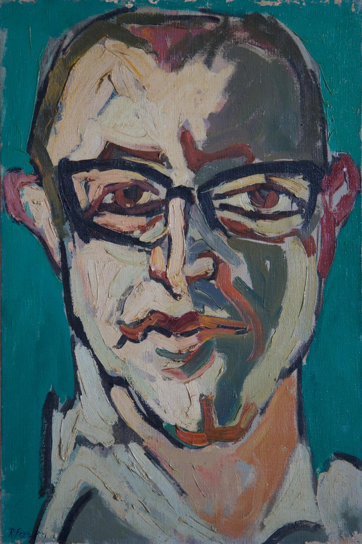 Ettore il violinista, oil on canvas, 40x60 cm, 1960. Write to info@robertoferruzzi.comfor a quotation.