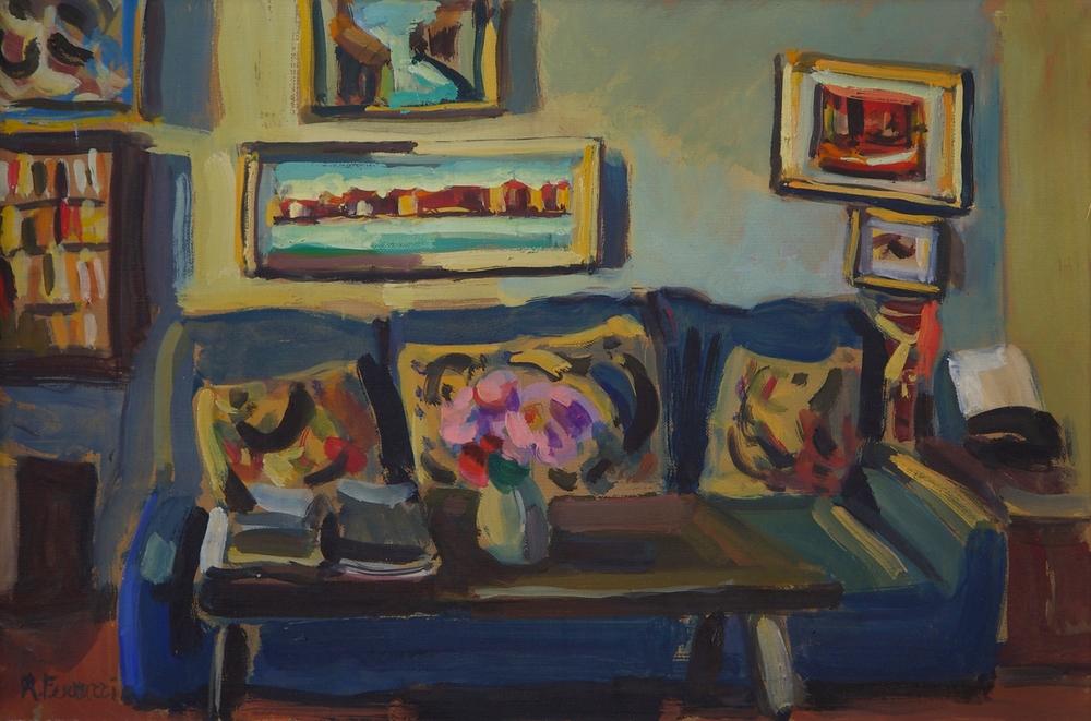 Studio grande, tempera on canvas, 50x75 cm, 2007. Write to info@robertoferruzzi.comfor a quotation.