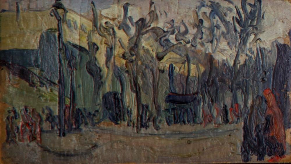 Fiori e Boulevard de Clichy (part 3), 12.5x7.5 cm, 1955. Write to info@robertoferruzzi.comfor a quotation.