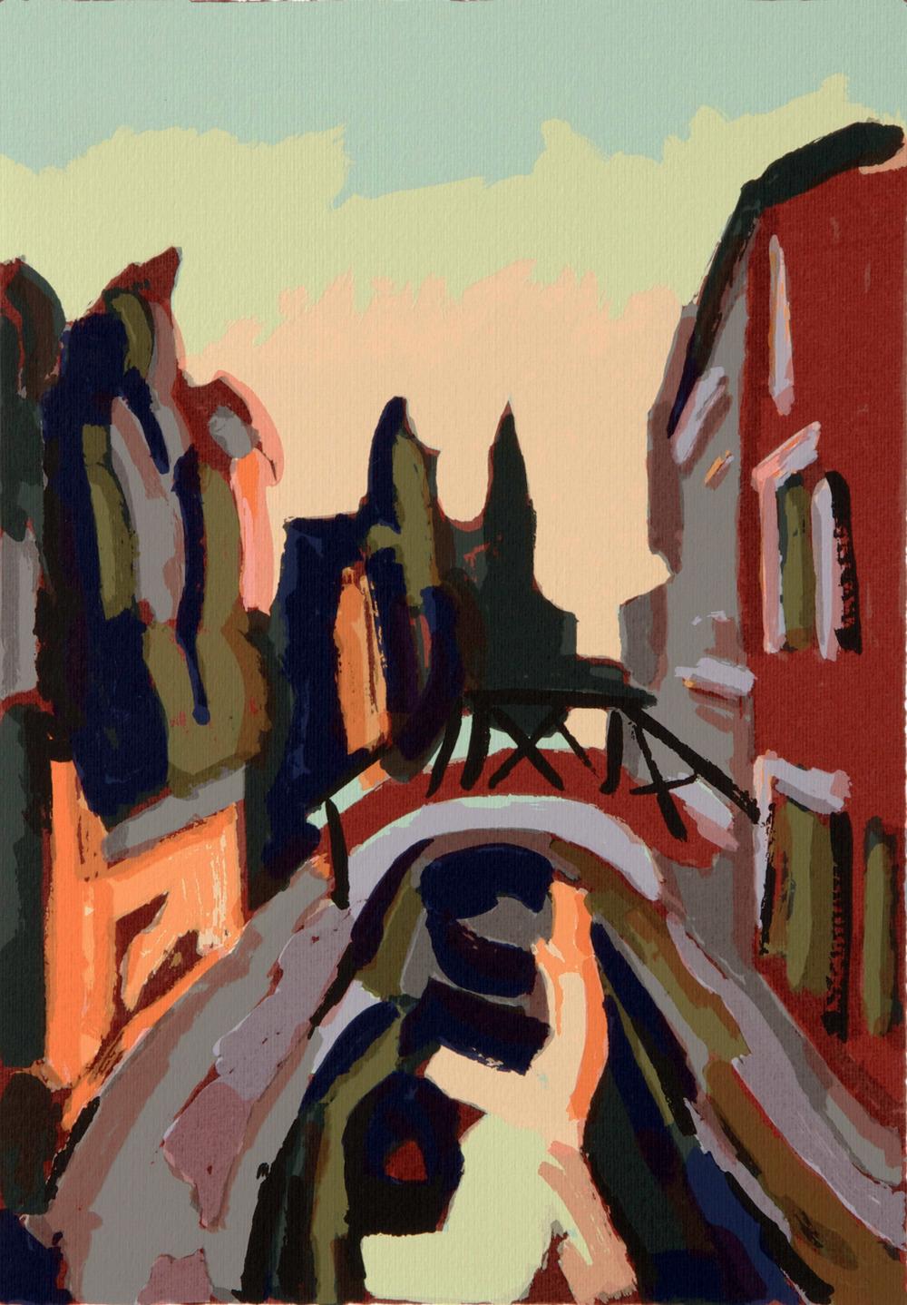 Rio di Sant'Eufemia, 50x 35 cm. Write toinfo@robertoferruzzi.comfor a quotation.