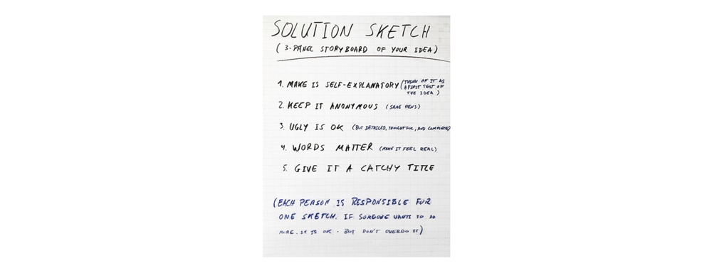 Solution Sketch Rules