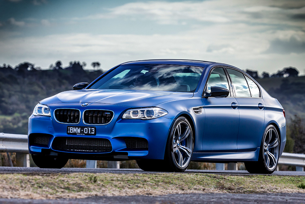 BMW M5 Frozen Blue