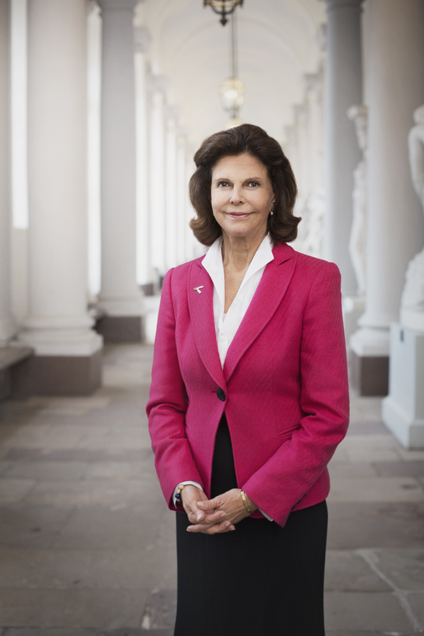 Swedens Queen Silvia. At royal castle.