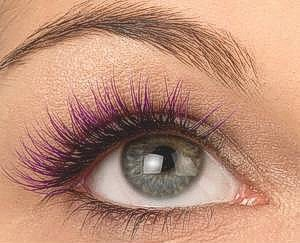 Pink Lashes - If you love lashes and you love pink, consider lash highlights! They can be subtle and stylish all at the same time.