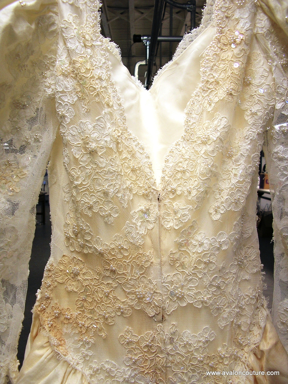 "Wedding Gown Bodice ""Before"""
