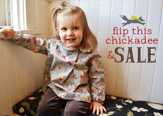 Flip This Pattern: Clever Charlotte Chickadee Blouse Pattern