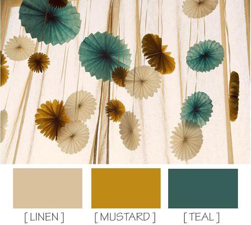 Mustard, Navy, Teal, Linen Inspiration 4