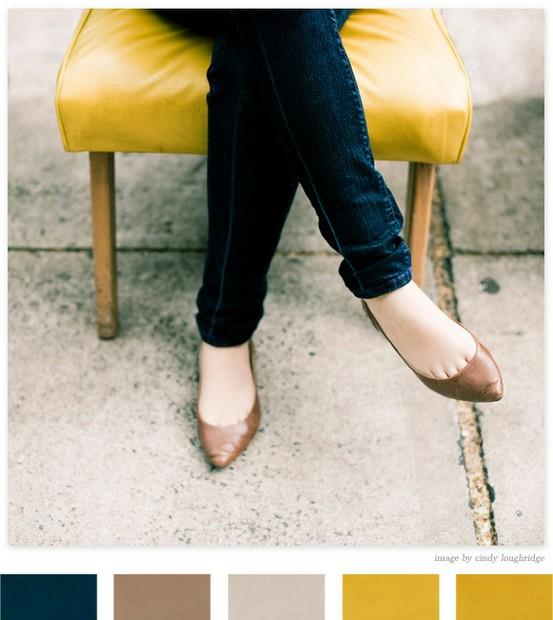 Mustard, Navy, Teal, Linen Inspiration 5