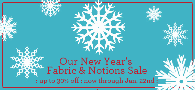Winter fabric sale