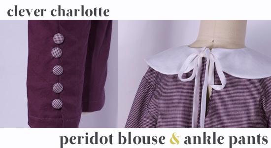 Peridot Blouse & Ankle Pants - details