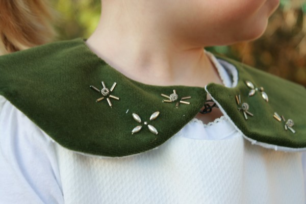 Peridot Collar with Embroidery