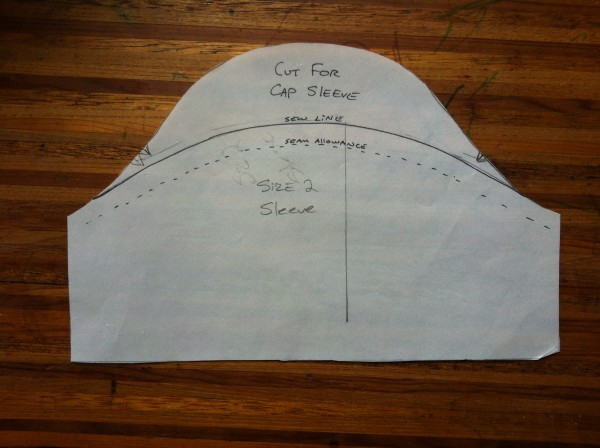 Drafting a Cap Sleeve