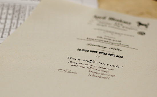 Letterpressing Our Thank You Cards